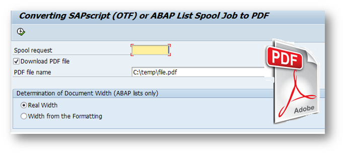 Abap Spool To Pdf