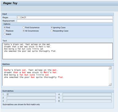 Regex in ABAP – Sapignite