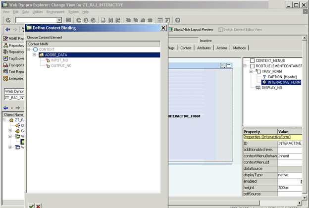 Tutorial on interactive adobeforms by webdynpro for ABAP